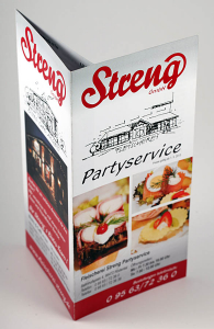 Strengs Partyservice - Flyer Design + Druck